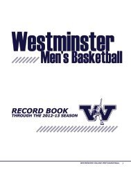 RECORD BOOK - Westminster College