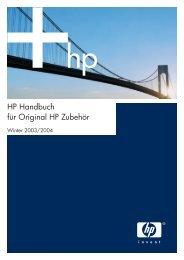 HP Handbuch für Original HP Zubehör - bei www.tonershop.ch