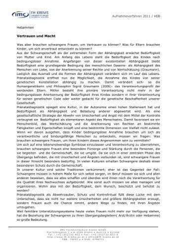 Schriftlicher Aufnahmetest - IMC Fachhochschule Krems Gmbh