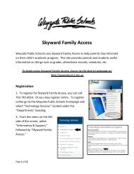 Skyward Family Access - Wayzata Public Schools