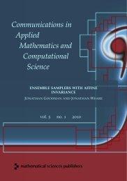 Ensemble samplers with affine invariance - MSP