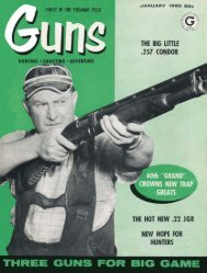 GUNS Magazine January 1960