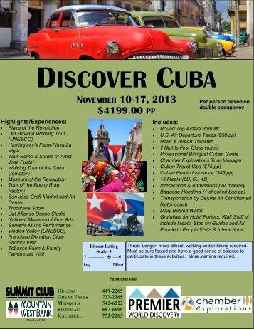 DISCOVER CUBA - Mountain West Bank