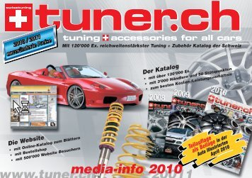 tuning accessories for all cars - Tuner.ch