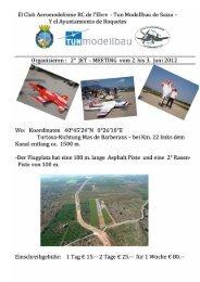 JET – MEETING vom 2. bis 3. Juni 2012 - TUN modellbau