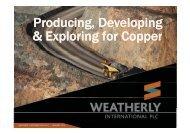 Livingstone Presentation - Weatherly International PLC