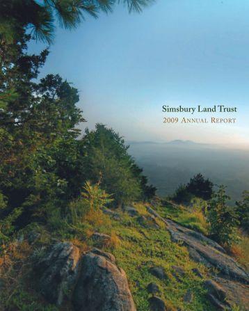 Annual Report 2009 - Simsbury Land Trust