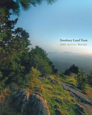 Annual Report 2009 - Simsbury Land Trust