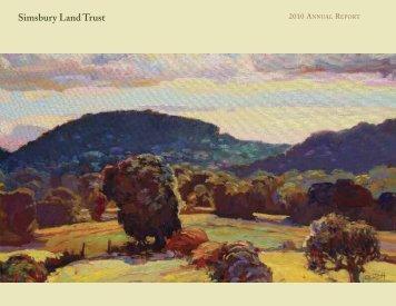 Annual Report 2010 - Simsbury Land Trust