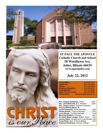 July 22, 2012 - St. Paul the Apostle Church