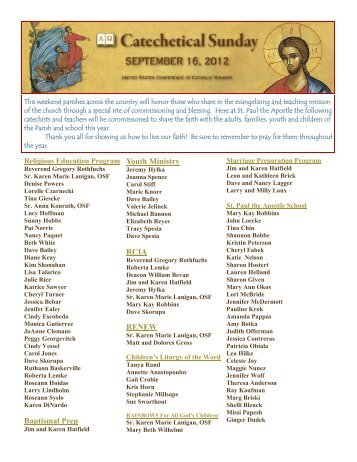 September 16 - St. Paul the Apostle Church