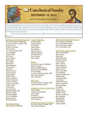 September 16 - St. Paul the Apostle Church
