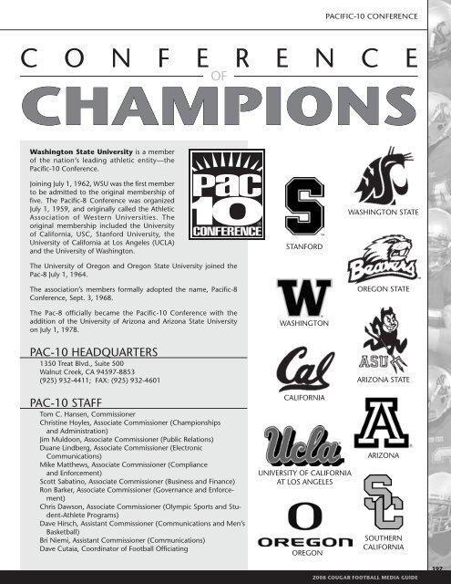 Cougar History and Awards - Community
