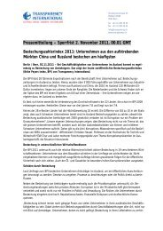 Sperrfrist 2. November 2011, 00.01 GMT - Transparency International