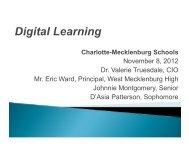 Charlotte Mecklenburg Schools - Dr. Valerie Truesdale