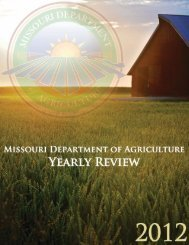 2012 Yearly Review - Missouri Department of Agriculture