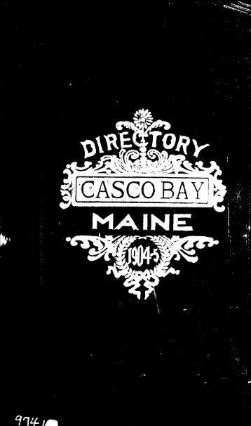 1904-05 Casco Bay Directory - Curtis Memorial Library