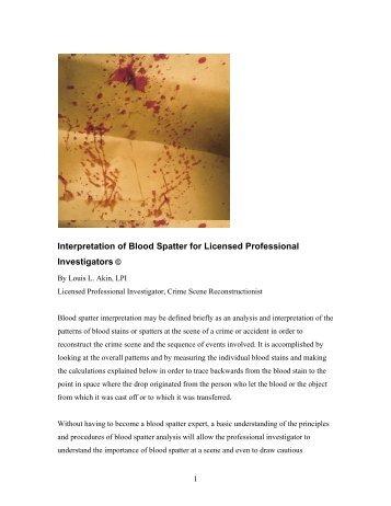 Fsb Blood Spatter