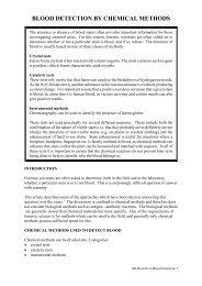 BLOOD DETECTION - BLUESTAR Forensic