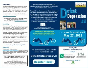 Truro, NS - Defeat Depression