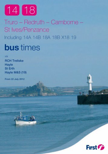 14 & 18 Timetable Booklet - PDF - FirstGroup
