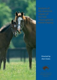 Analysis of the economic impact of the Irish Thoroughbred ... - Itba.info