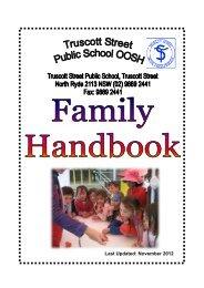 Truscott St OOSH Family Handbook 2013