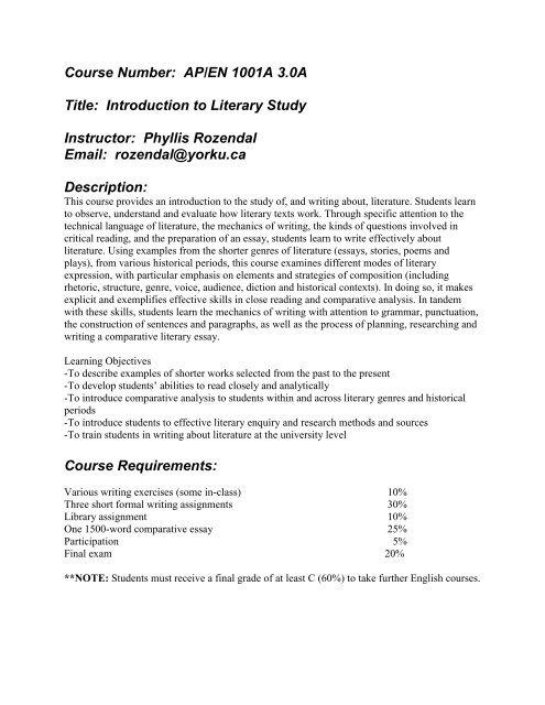 EN 1001 B pdf - York University