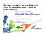 Gauging the market for new diagnostic tests for bloodstream and ...