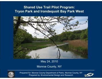 Shared Use Trail Pilot Program: Tryon Park and ... - Monroe County