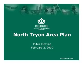 North Tryon Area Plan