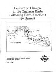 Landscape Change in the Tualatin Basin Following Euro-America n