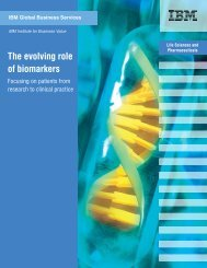 The evolving role of biomarkers - Economist Intelligence Unit