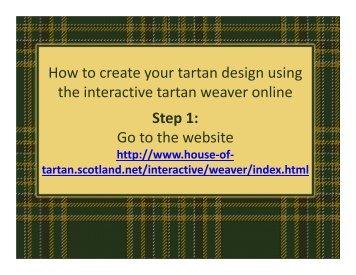 Tartan Weaver How To Guide - NDSU