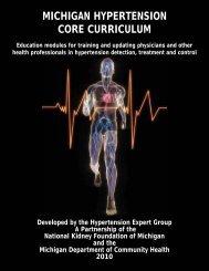 michigan hypertension core curriculum - State of Michigan