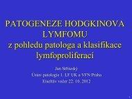 Patogeneze Hodgkinova lymfomu z pohledu patologa a klasifikace