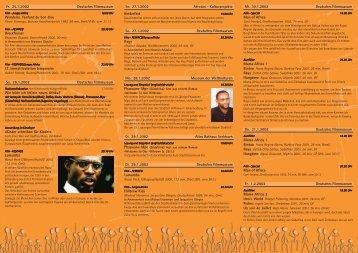 So. 27.1.2002 Afroton - Kulturprojekte Kinderfest So. 27.1.2002 ...