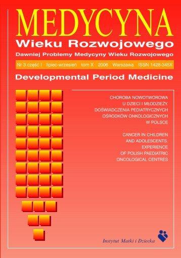 Medycyna Wieku Rozwojowego