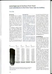 Lastumlagerung im Hochhaus Prime Tower ... - Ulaga Partner AG