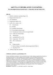 akútna lymfoblstová leukémia- štandardné diagnostické a