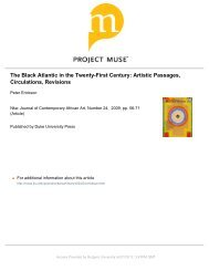 The Black Atlantic in the Twenty-First Century - Read Think Write ...