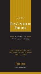 dean's scholar program - College of Liberal Arts - Purdue University