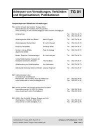 Adressen von Verwaltungen, Verbänden und Organisationen ...
