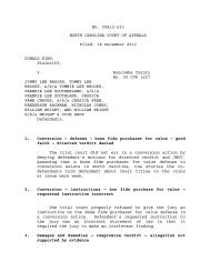 King v. Brooks - North Carolina Court System