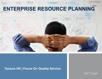 ENTERPRISE RESOURCE PLANNING - CIMA