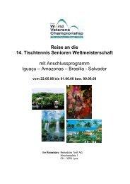 Reise an die 14. Tischtennis Senioren ... - Reisebüro Treff AG