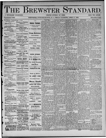 Brewster - Northern New York Historical Newspapers