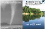 2007 annual report.pub - Nicollet County Historical Society