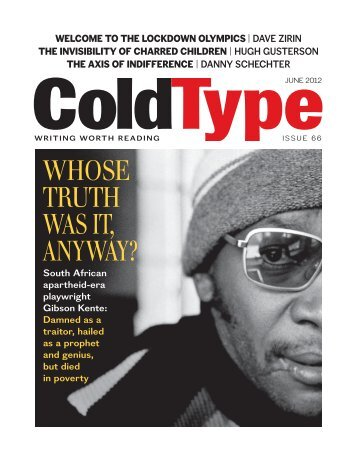 May/June 2012 issue - ColdType