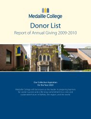 Medaille College Donor List Report of Annual Giving 2009-2010
